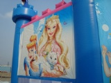 Disney princess party castle jumping inflatable