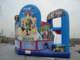 Inflatable shrek jumping castle bouncy for kids