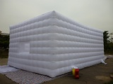 white Inflatable cube tent