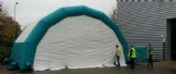 Garage painting workstation inflatable tent