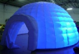 Inflatable lighting igloo dome