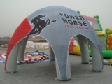 Inflatable spider dome tent for during festivals