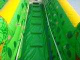 inflatable jumping with slide and obstacle