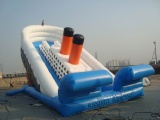 warship Titanic inflatable dry slides