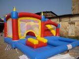 kids combo inflatable pool slides with bouncer
