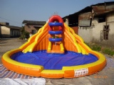 Small Double inflatable water slide for pool