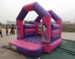 bouncy castle pink princess story kids moonwalk