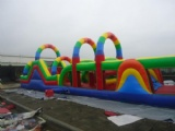inflatable obstacle course tunnel circle