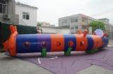 cute inflatable caterpillar worm tunnel for kids