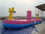 inflatable bungee run trampoline basketball