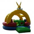 Cute rabbit bouncy castle inflatable toys for kids