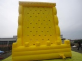 Yellow Sports inflatable rock climbing wall indoor climb