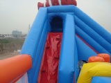 Shake inflatable bouncy castle Childrens park