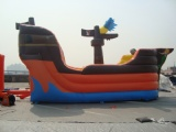 pirate boat armed cannon bouncy castle