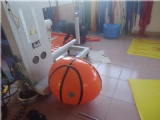 Inflatable basketball hoop