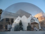 Christmas snow globe for party event tent