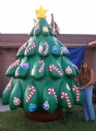 inflatable Christmas tree during Xmas