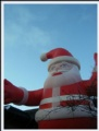 santa for christmas inflatable decoration