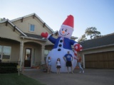 blow up snowman Decoration