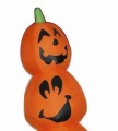 8 Ft tall Halloween Airblown Inflatable Slender Pumpkin Stack holiday decorations
