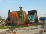 Zip Line inflatable Obstacle course for event party