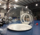 clear inflatable lawn bubble