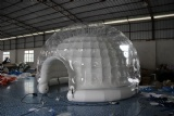inflatable igloo lighting dome