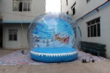 outdoor snow ball for holiday party stage and other events
