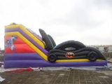 cool black car for batman inflatable slide for kids