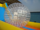 Interesting crazy zorb ramp for outdoor fun