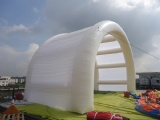 inflatable air roof tent arch shape