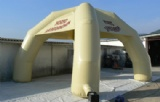white dome inflatable advertising tents with 4 pillars