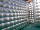 Inflatable silver stage for catwalk fashion shows