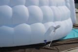 Air dome double layer tent inflatable building