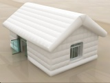 white inflatable log cabin house with for party event