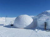 ice igloo making Dome