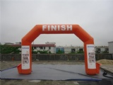 Finish and start Inflatable arch way