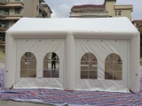 Portable inflatable party event tent