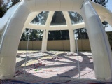 Large Clear Roof Inflatable Igloo Tent with Tunnel Entrance
