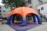 Inflatable 6 legs spider dome tent