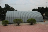 Inflatable tunnel tent for outdoor using
