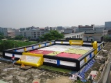 Interesting soccer football court Inflatable soap football field for sales