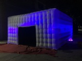 Inflatable haunted house with LED light