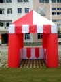 Inflatable trade show kiosk for sales