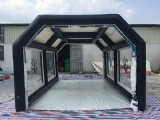 Moveable inflatable tent for car care